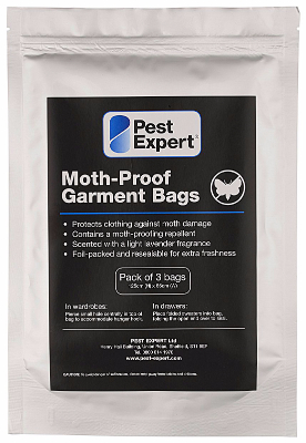 Pest Expert Moth Proof Storage Bags 3 Pack Moth Killer